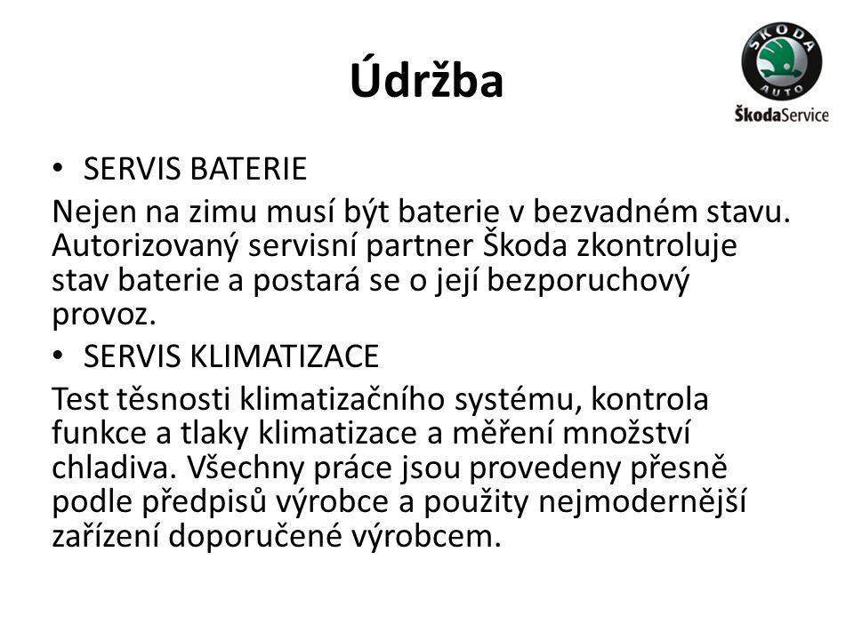 Údržba SERVIS BATERIE.