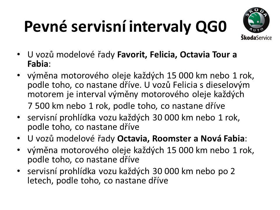Pevné servisní intervaly QG0