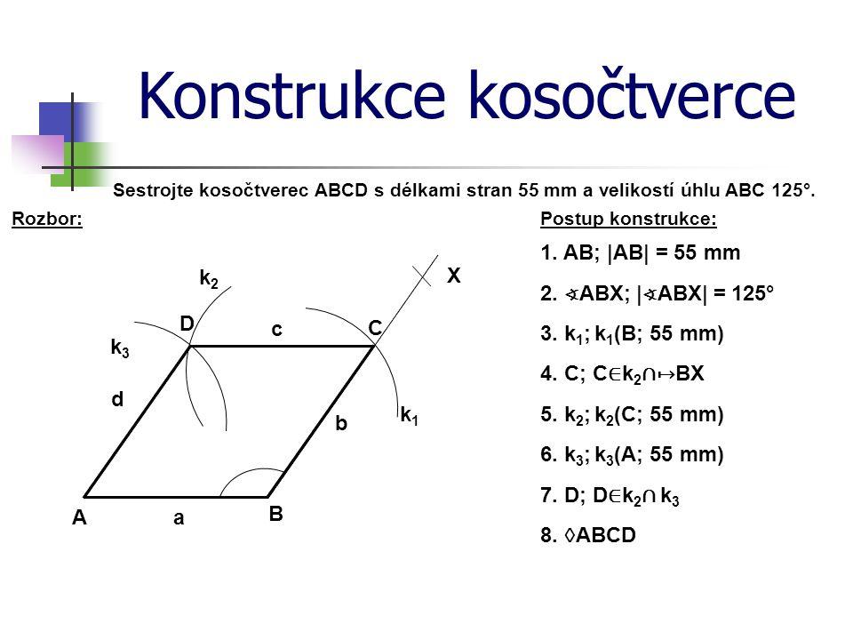 Konstrukce kosočtverce