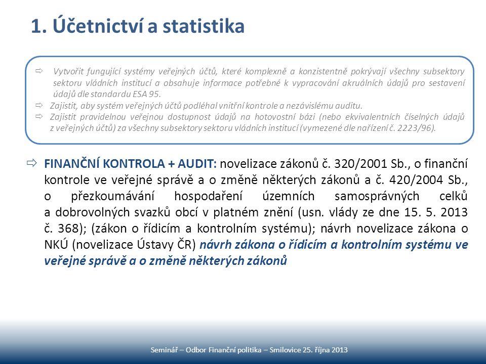 1. Účetnictví a statistika
