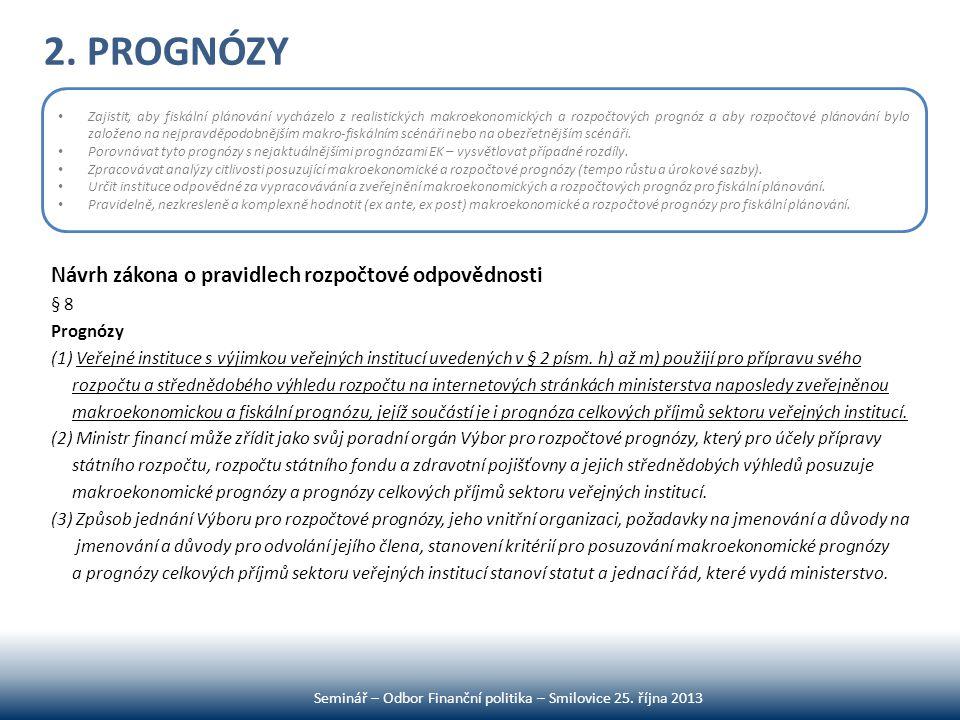 Seminář – Odbor Finanční politika – Smilovice 25. října 2013