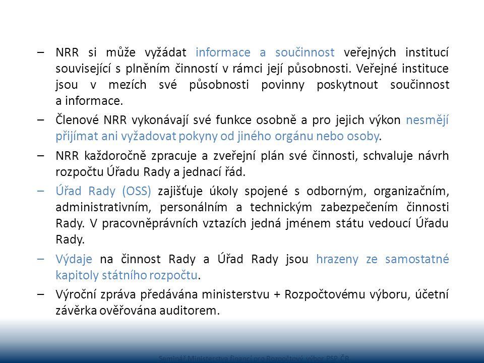 Seminář Ministerstva financí pro Rozpočtový výbor PSP ČR