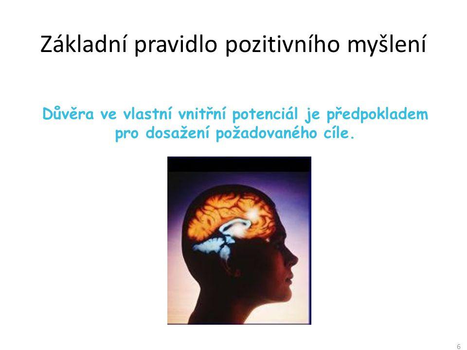 Základní pravidlo pozitivního myšlení