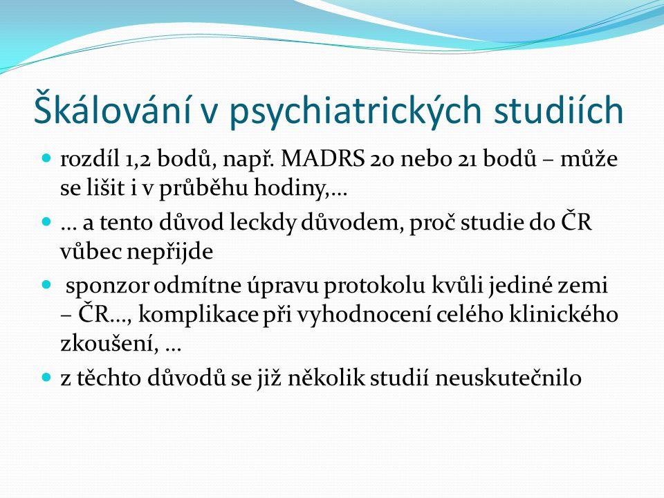 Škálování v psychiatrických studiích