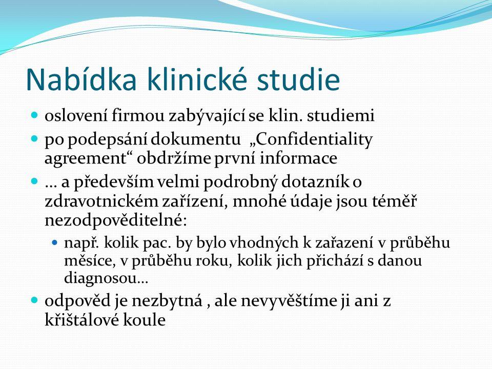 Nabídka klinické studie