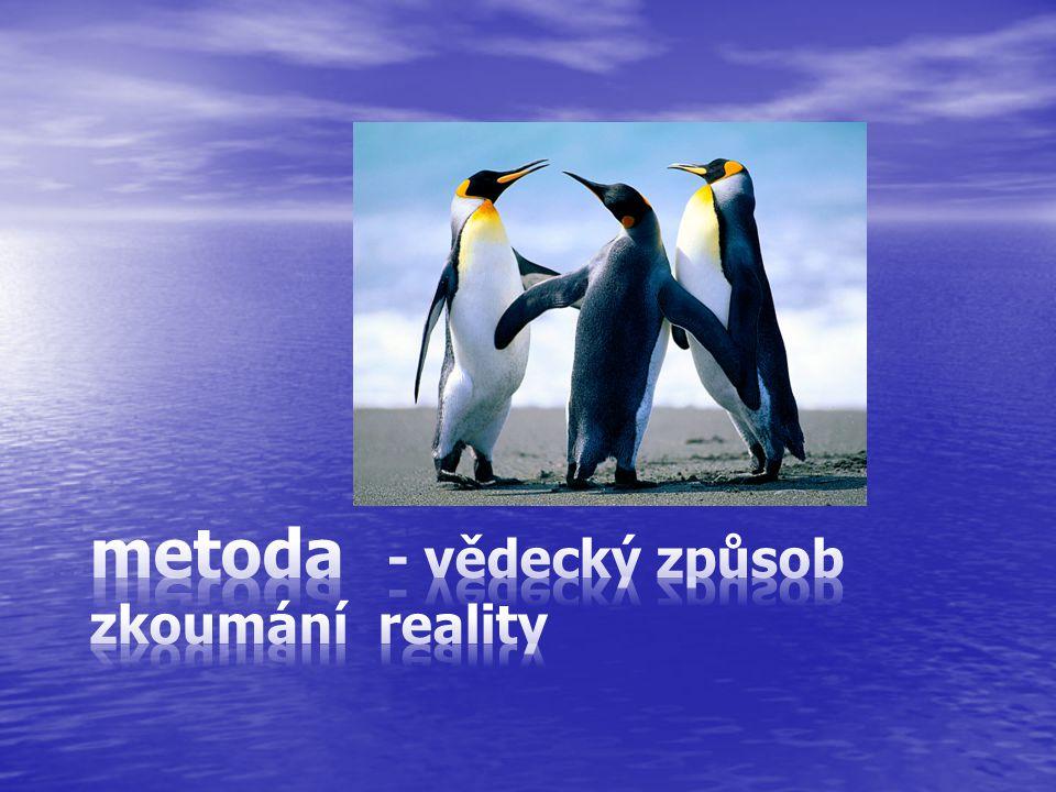 metoda - vědecký způsob zkoumání reality