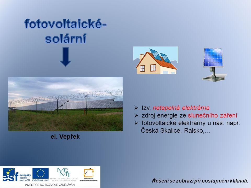 fotovoltaické- solární