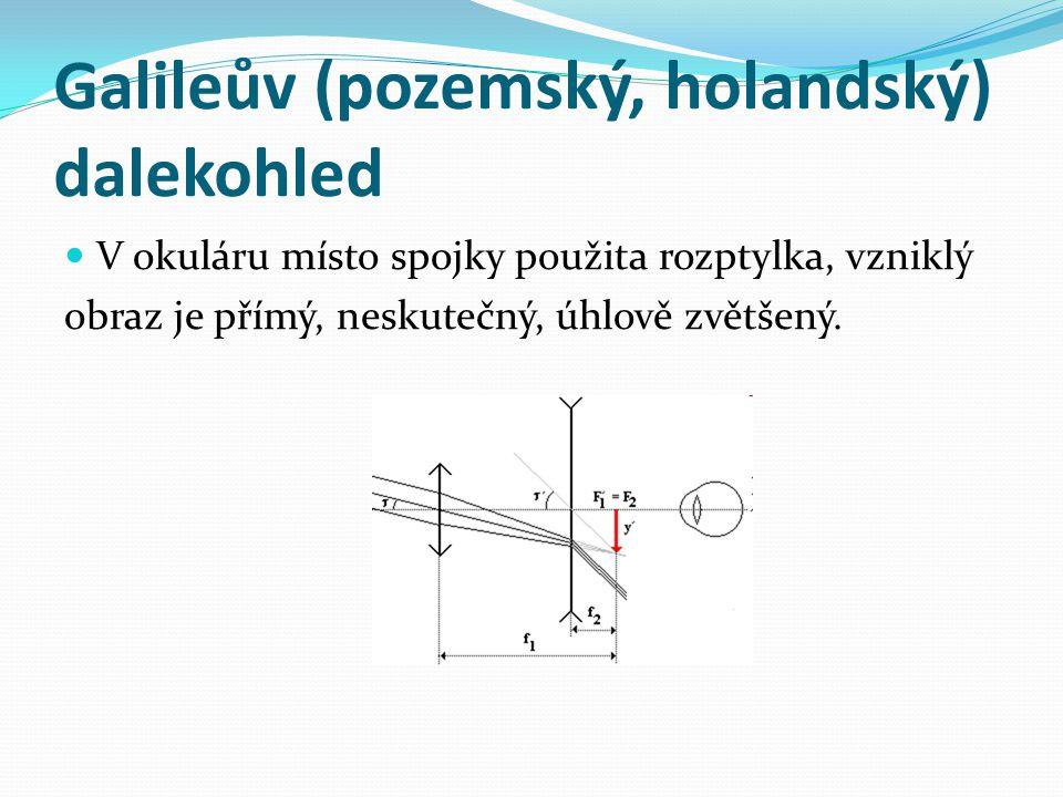 Galileův (pozemský, holandský) dalekohled