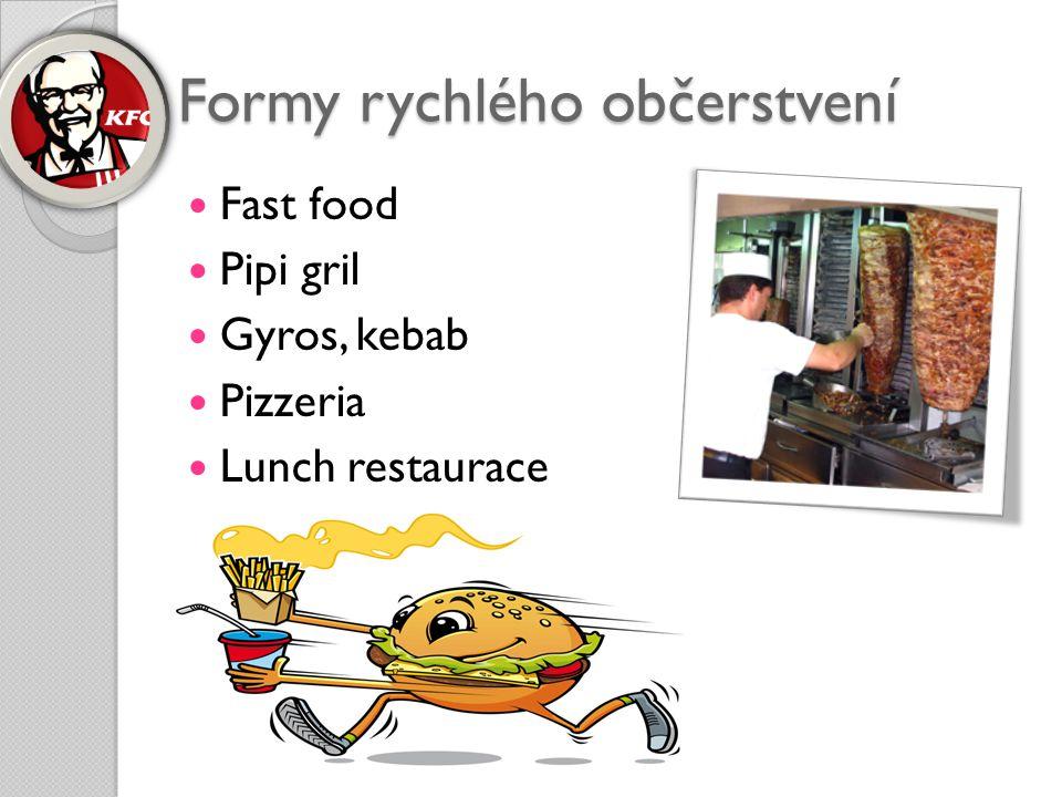 Formy rychlého občerstvení