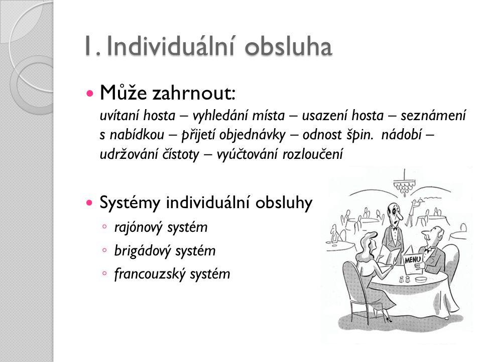 1. Individuální obsluha