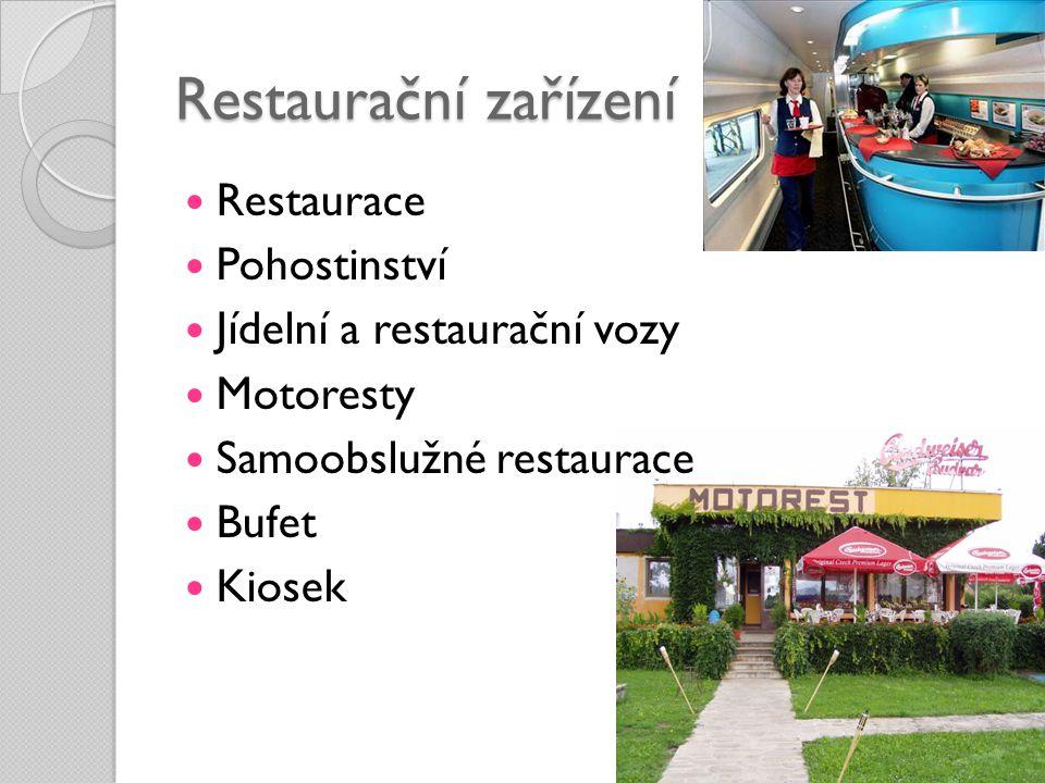 Restaurační zařízení Restaurace Pohostinství