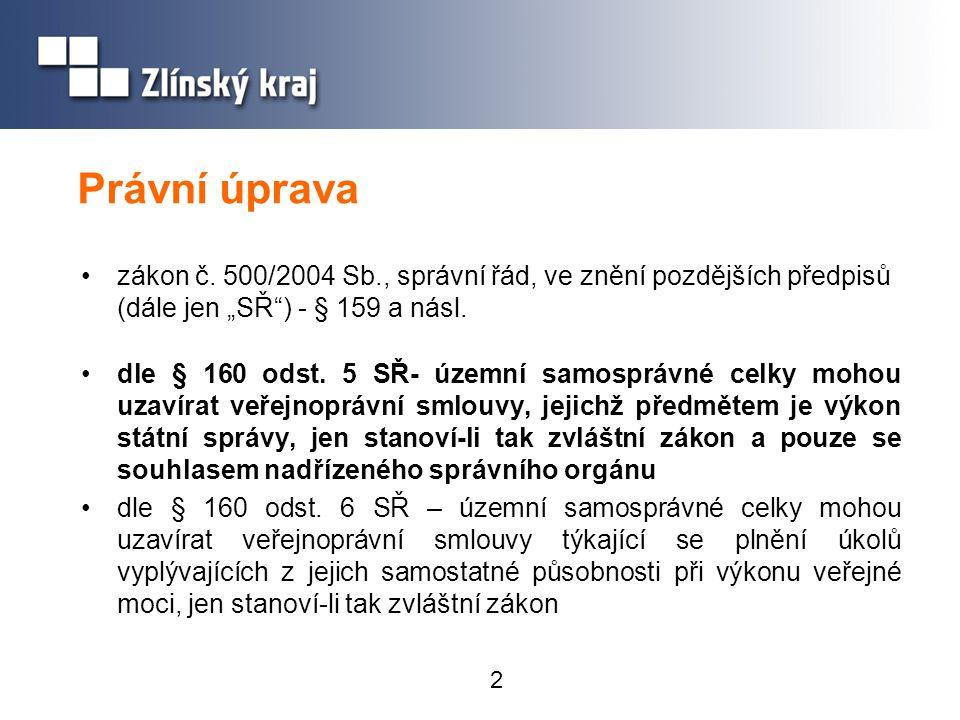 """Právní úprava zákon č. 500/2004 Sb., správní řád, ve znění pozdějších předpisů (dále jen """"SŘ ) - § 159 a násl."""