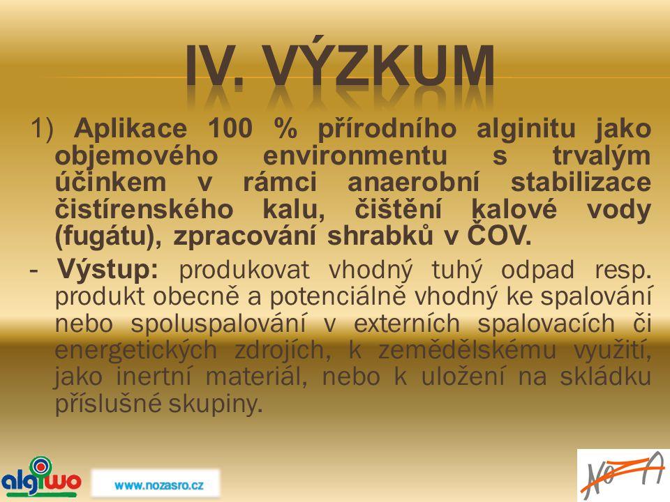IV. Výzkum