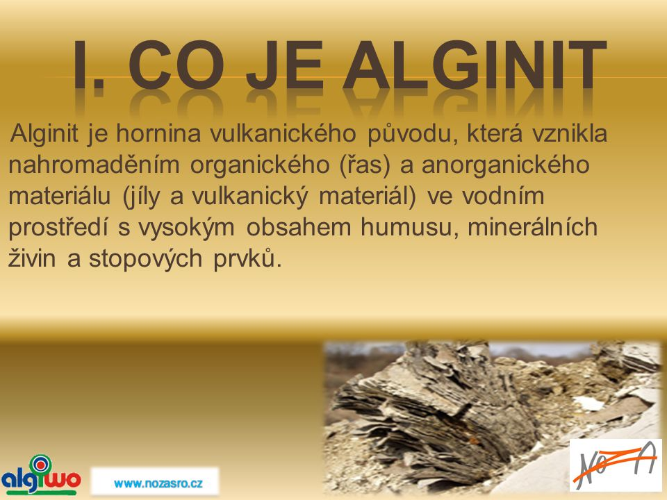 I. Co je Alginit