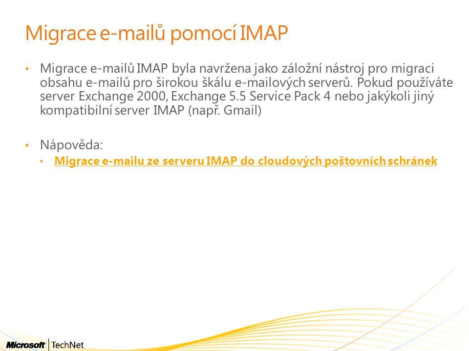 Migrace e-mailů pomocí IMAP
