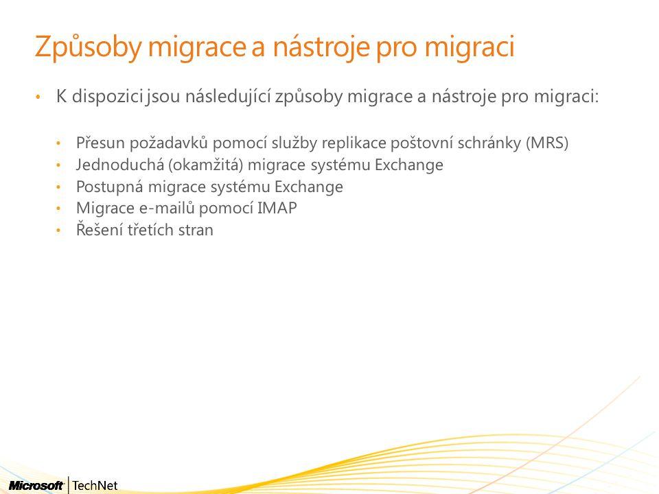 Způsoby migrace a nástroje pro migraci