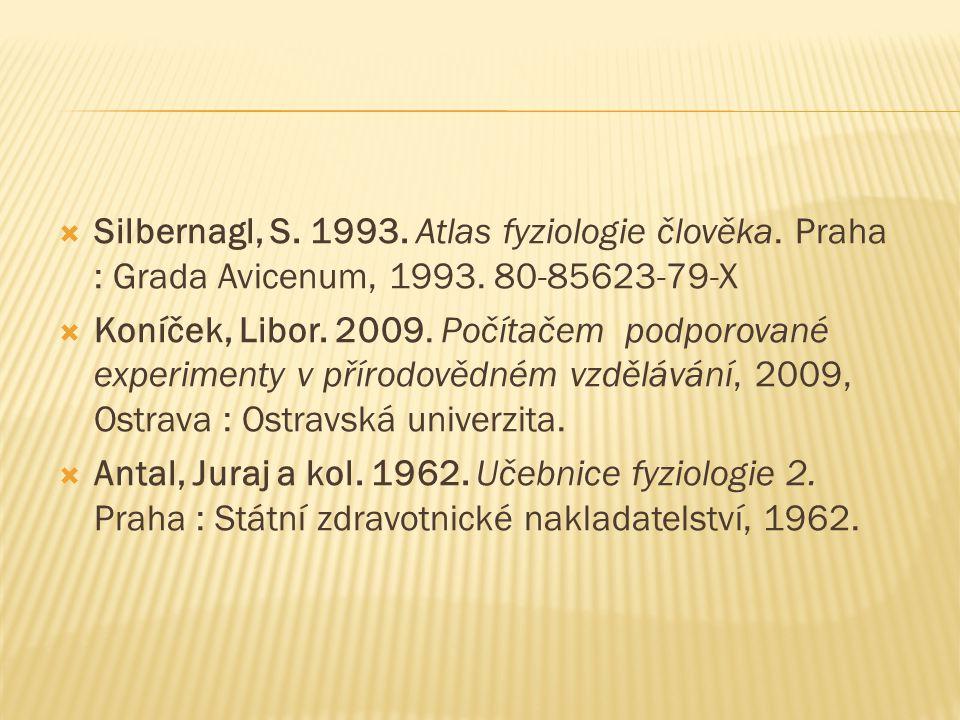 Silbernagl, S. 1993. Atlas fyziologie člověka
