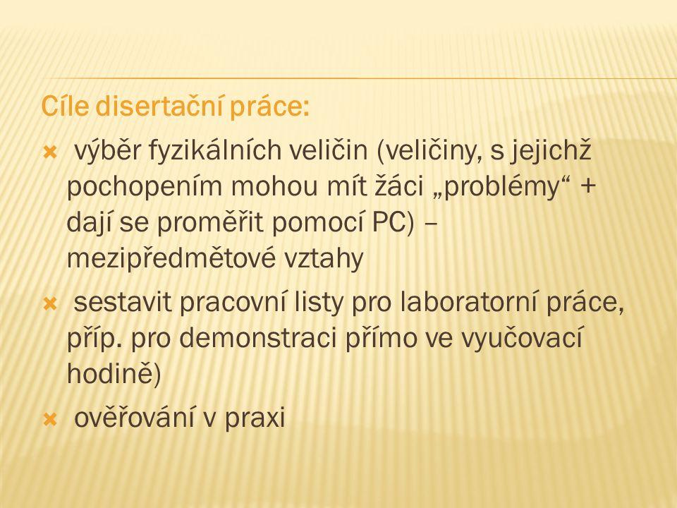 Cíle disertační práce: