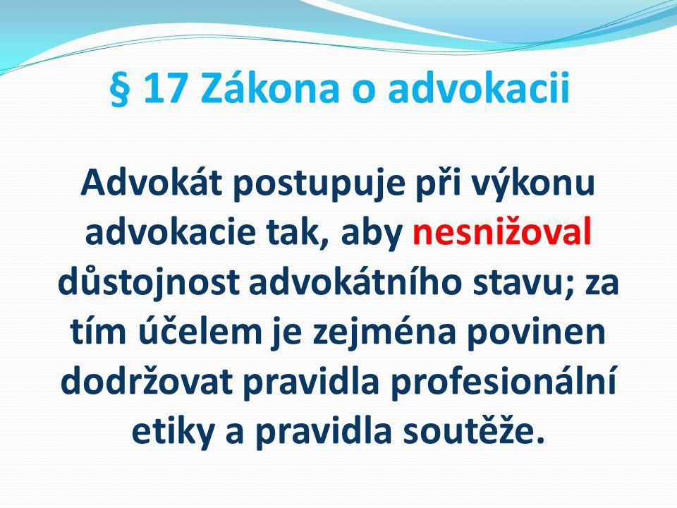 § 17 Zákona o advokacii
