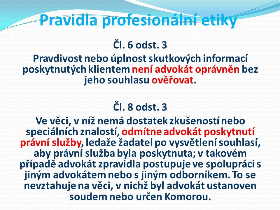 Pravidla profesionální etiky