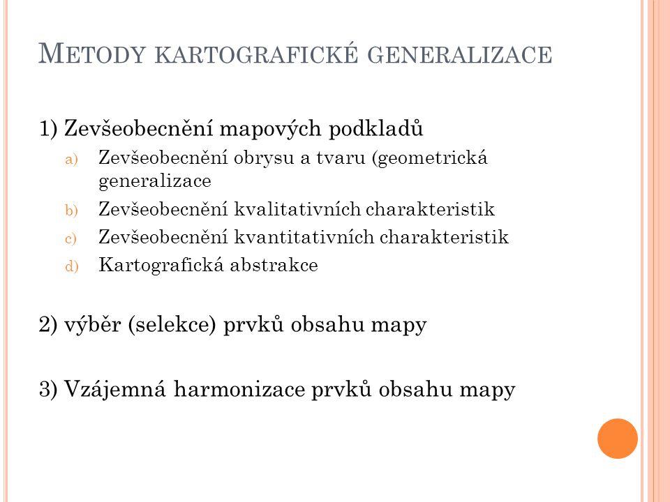 Metody kartografické generalizace