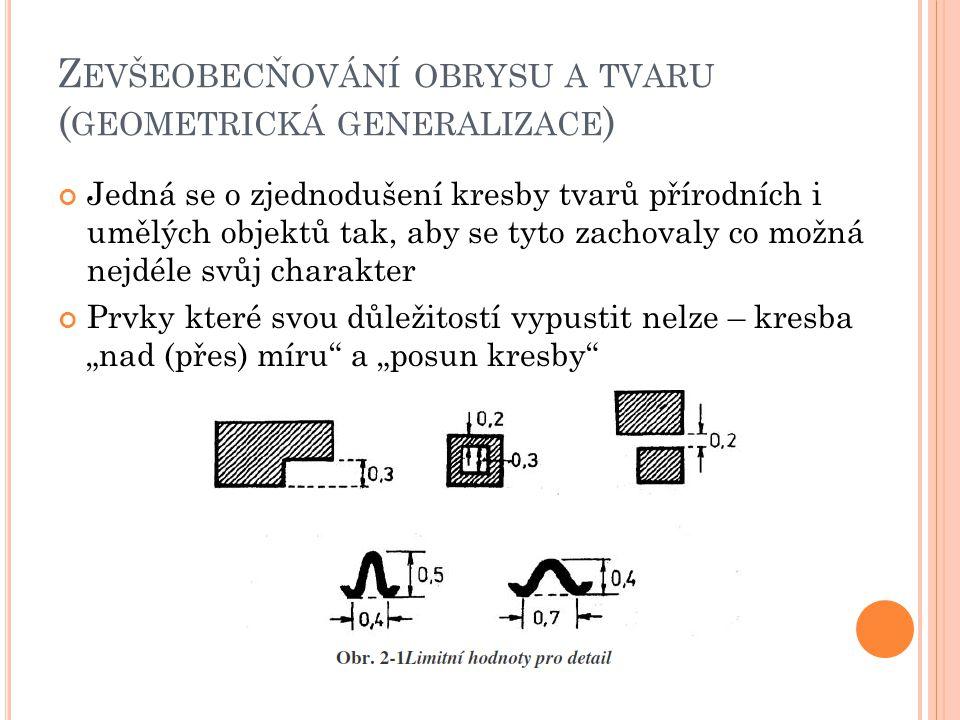 Zevšeobecňování obrysu a tvaru (geometrická generalizace)