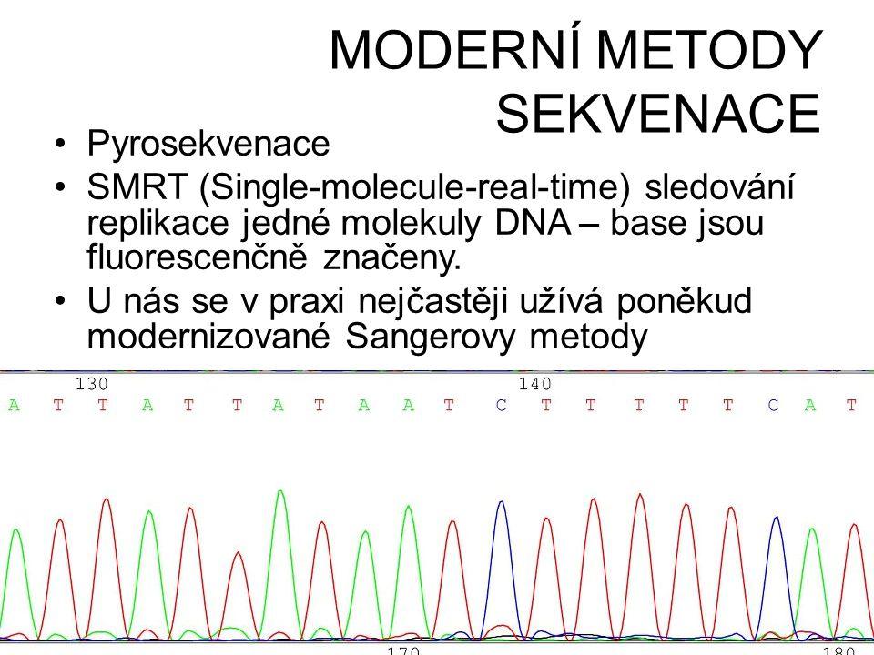 MODERNÍ METODY SEKVENACE