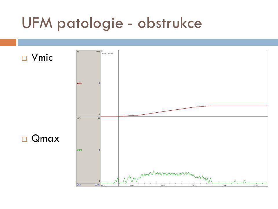UFM patologie - obstrukce