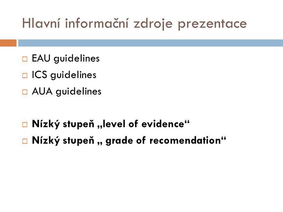 Hlavní informační zdroje prezentace