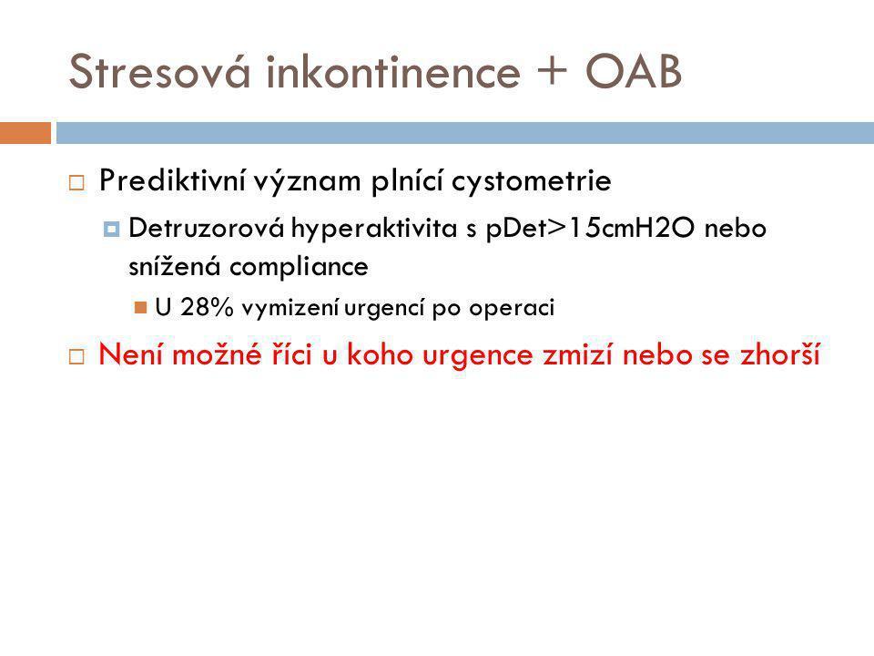 Stresová inkontinence + OAB