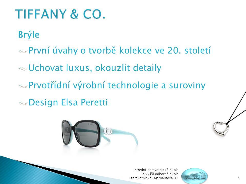 TIFFANY & CO. Brýle První úvahy o tvorbě kolekce ve 20. století
