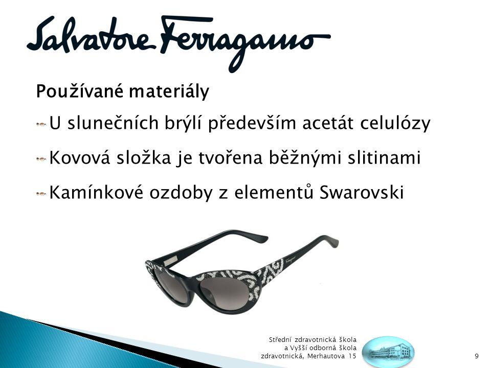 U slunečních brýlí především acetát celulózy