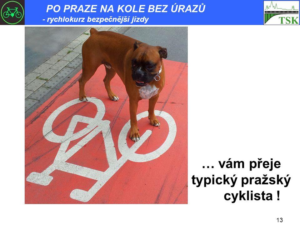 … vám přeje typický pražský cyklista !