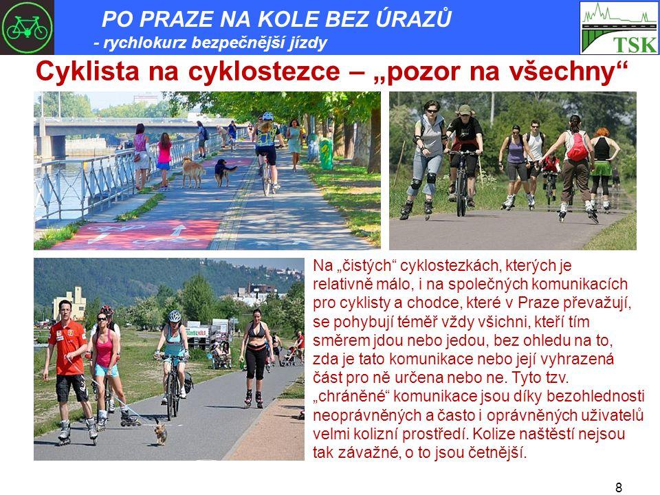 "Cyklista na cyklostezce – ""pozor na všechny"