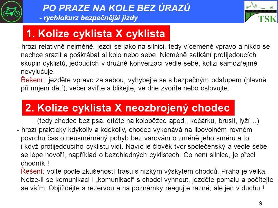 1. Kolize cyklista X cyklista