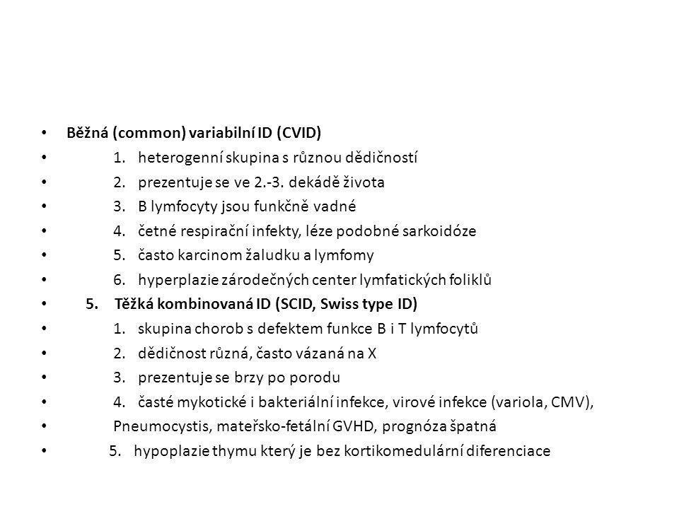 Běžná (common) variabilní ID (CVID)