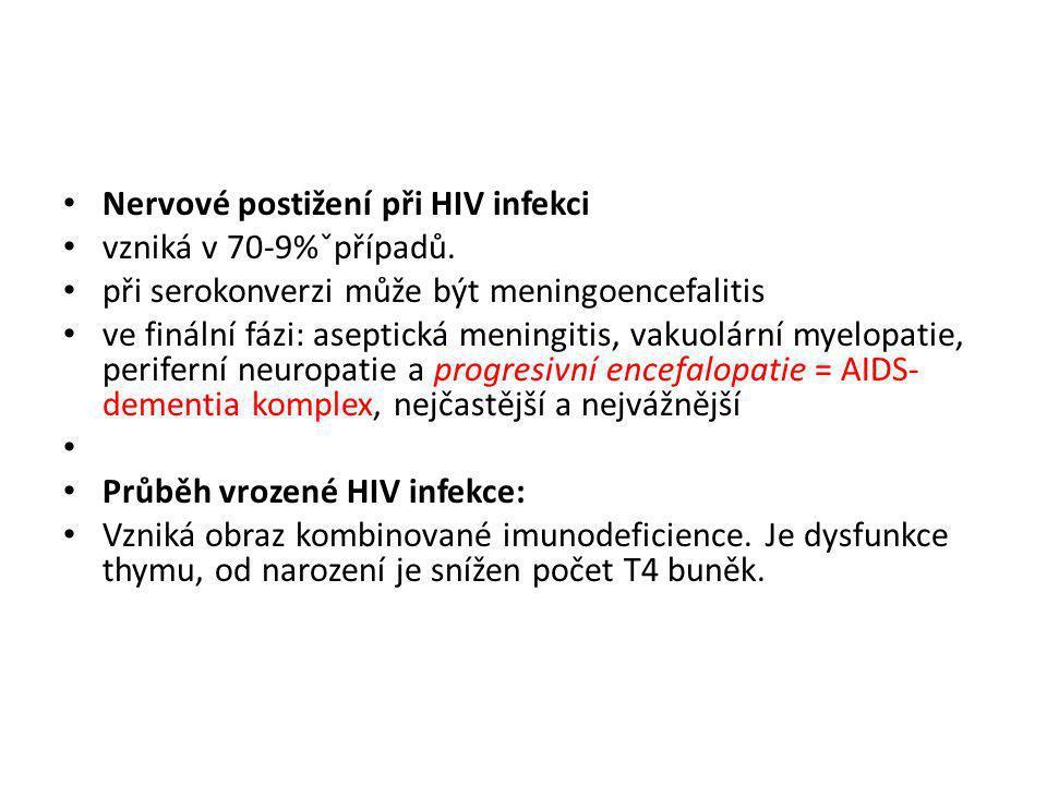 Nervové postižení při HIV infekci