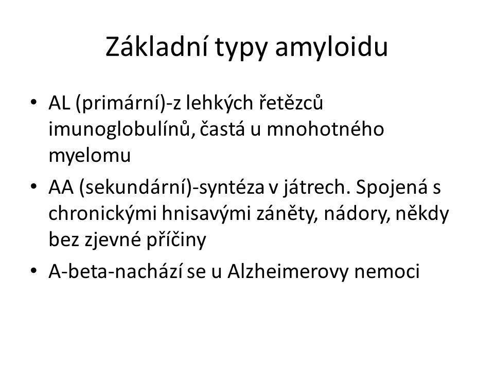 Základní typy amyloidu