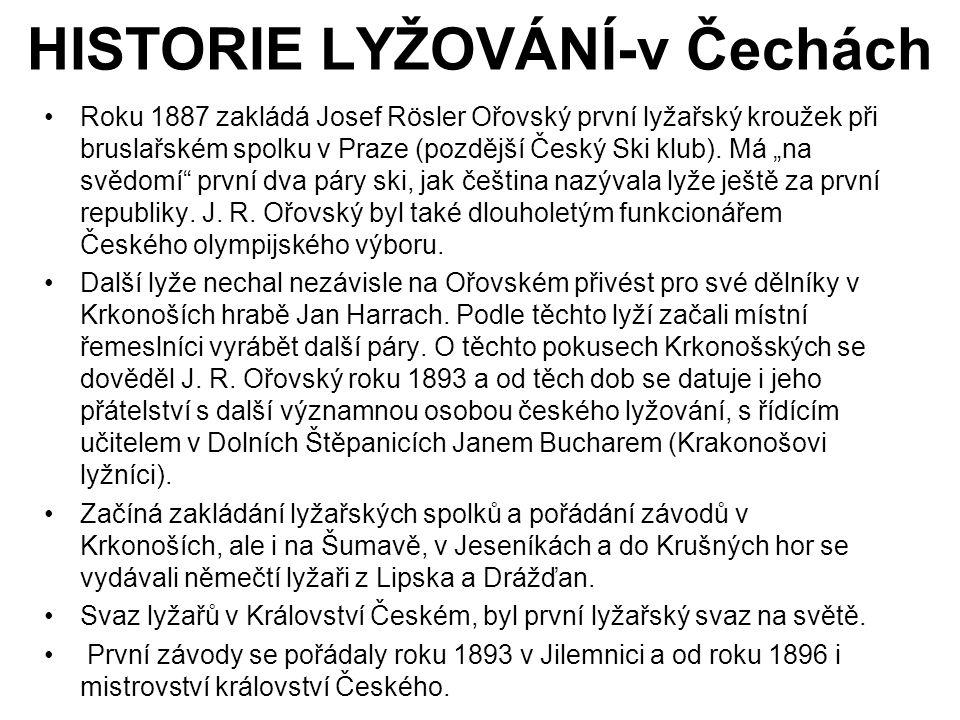 HISTORIE LYŽOVÁNÍ-v Čechách