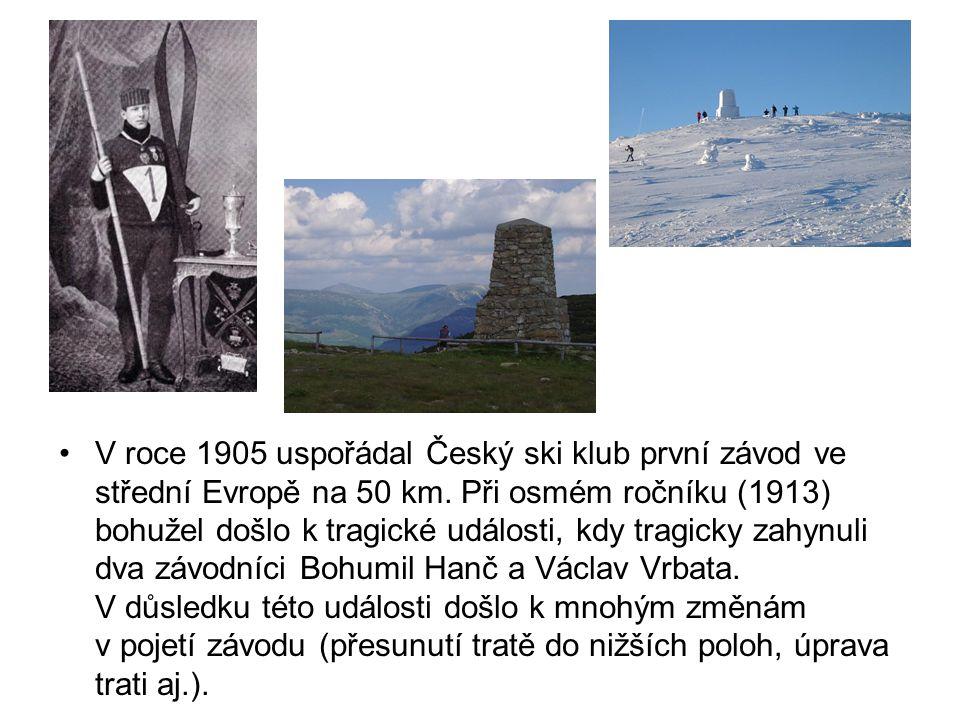 V roce 1905 uspořádal Český ski klub první závod ve střední Evropě na 50 km.