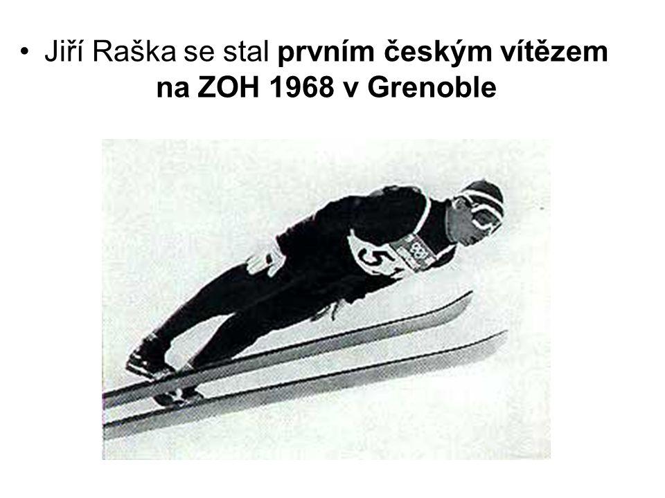 Jiří Raška se stal prvním českým vítězem na ZOH 1968 v Grenoble