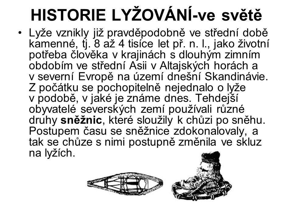HISTORIE LYŽOVÁNÍ-ve světě
