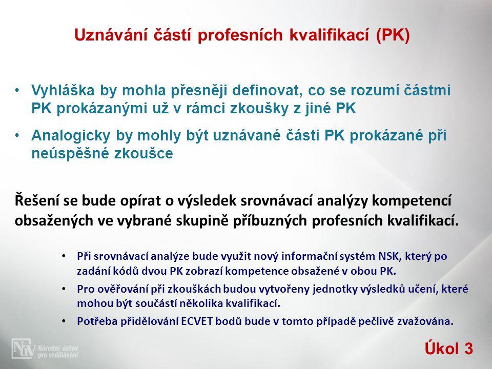 Uznávání částí profesních kvalifikací (PK)