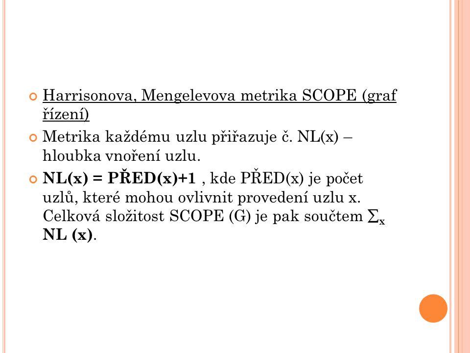 Harrisonova, Mengelevova metrika SCOPE (graf řízení)