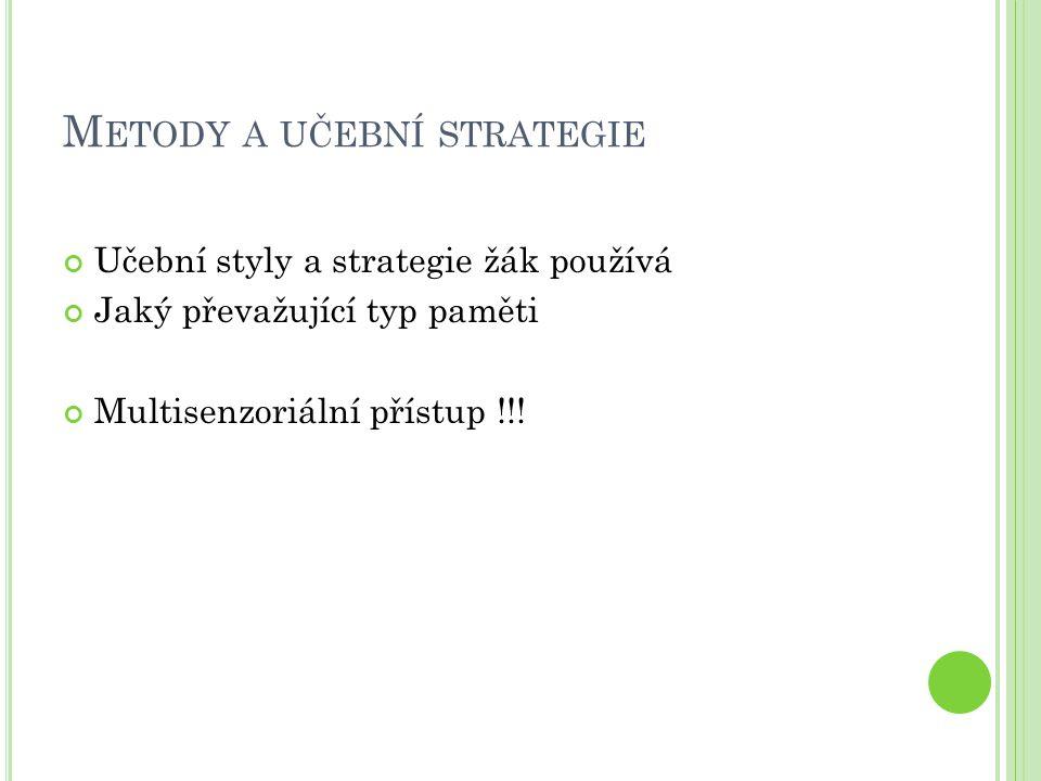 Metody a učební strategie