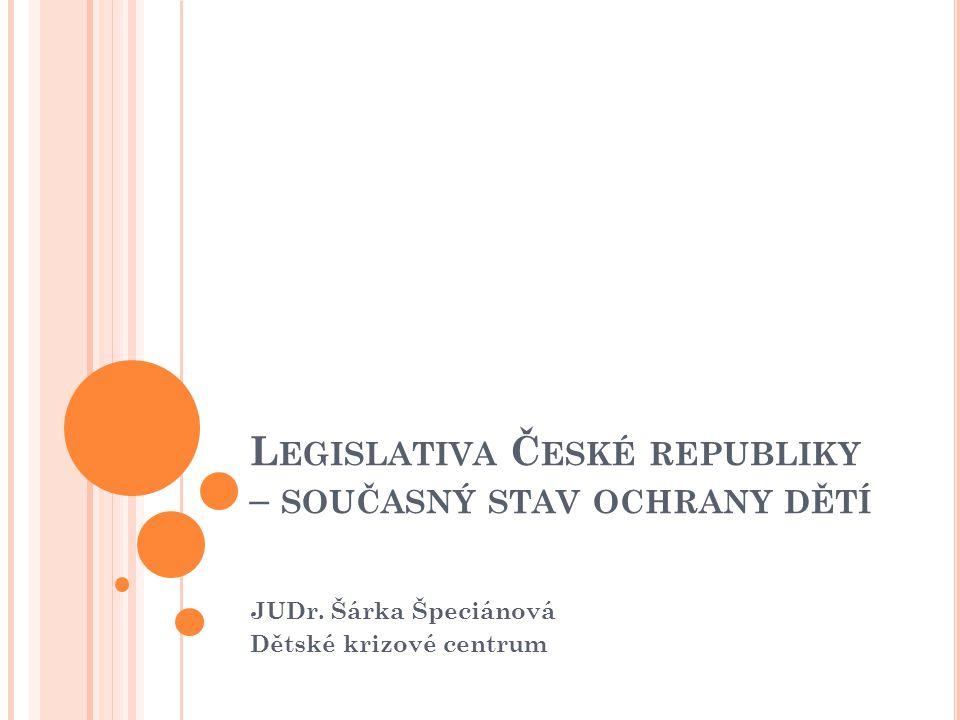 Legislativa České republiky – současný stav ochrany dětí