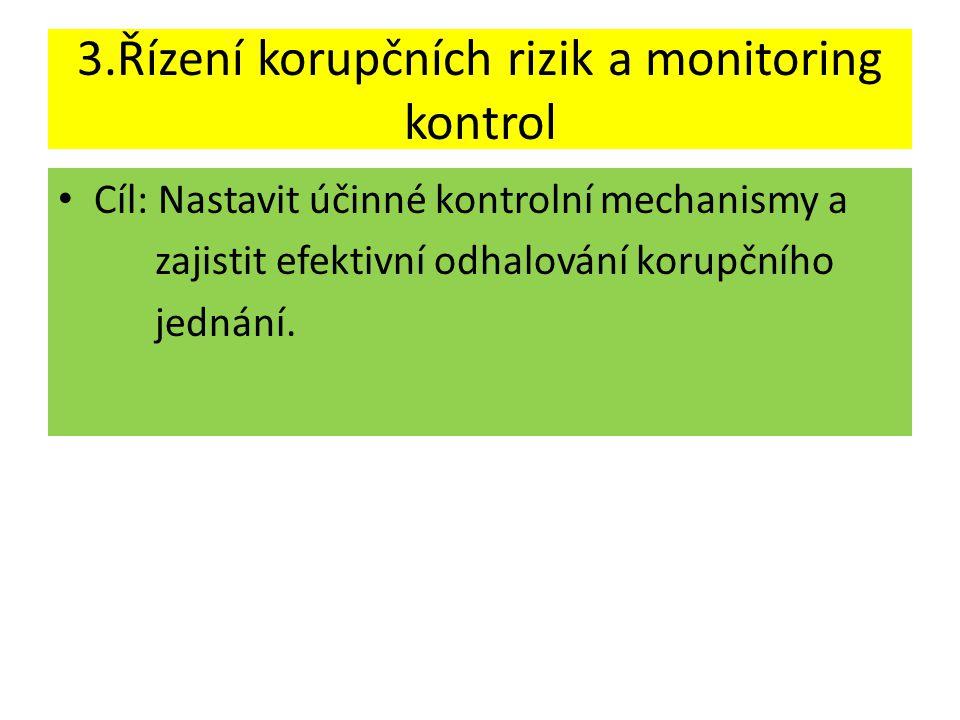 3.Řízení korupčních rizik a monitoring kontrol