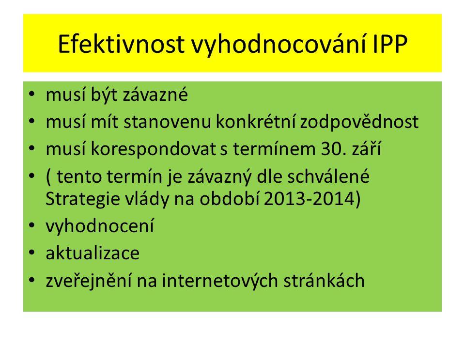 Efektivnost vyhodnocování IPP