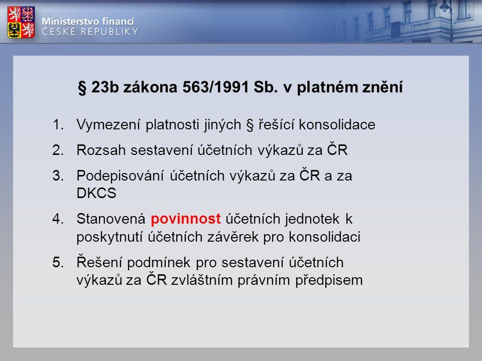 § 23b zákona 563/1991 Sb. v platném znění