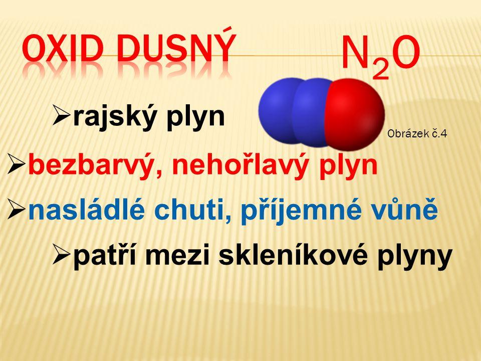 N2O OXID dusný rajský plyn bezbarvý, nehořlavý plyn